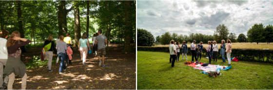 Wandelcoaches in opleiding