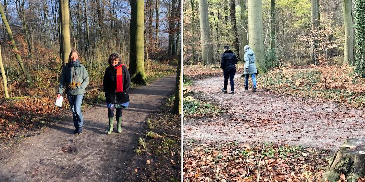 Synchronie samen wandelen